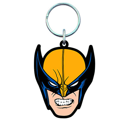 WOLVERINE X-Men Mask Soft Touch PVC Keychain