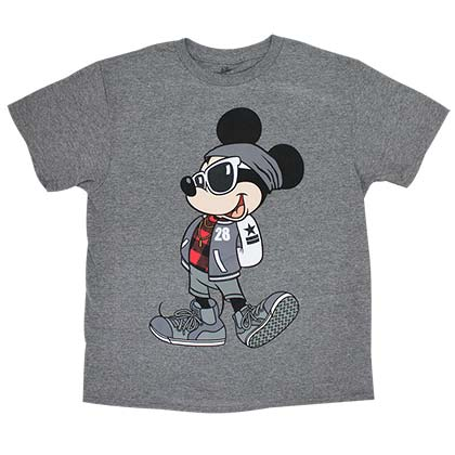 Mickey Mouse Urban Youth Boys 8-20 Gray Tee Shirt