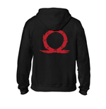 GOD OF WAR Men's Serpent Logo Full Length Zipper Hoodie, Large, Black