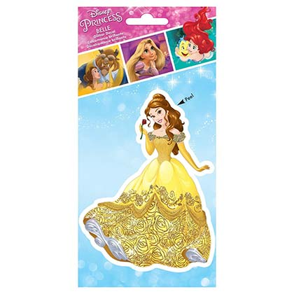 BEAUTY AND THE BEAST Belle Yellow Dress Sticker