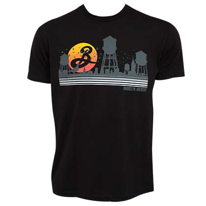 BROOKLYN BREWERY Water Towers Men's Black T Shirt