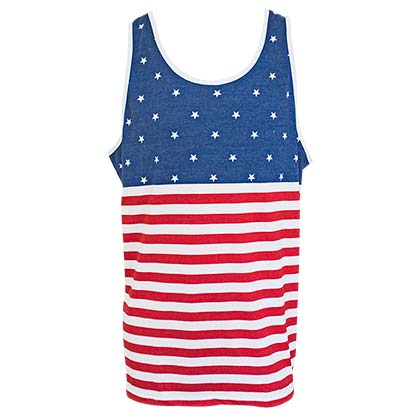 USA PATRIOTIC American Flag Men's Tank Top