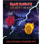 Iron Maiden Legacy of the Beast 2-pack Pin Badge Clairvoyant & Wicker Man