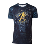 MARVEL COMICS Avengers: Infinity War Men's Team Sublimation Print T-Shirt, Large, Multi-colour