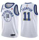 Men's Golden State Warriors Klay Thompson Nike Hardwood Classic Replica Jersey
