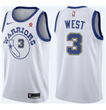 Men's Golden State Warriors David West Nike Hardwood Classic Replica Jersey