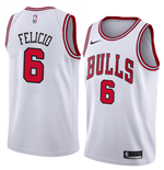 Men's Chicago Bulls Cristiano Felicio Nike Association Edition Replica Jersey