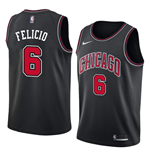 Men's Chicago Bulls Cristiano Felicio Nike Statement Edition Replica Jersey