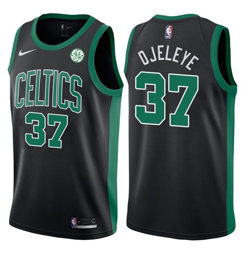 uk availability 00c22 ef320 Men's Boston Celtics Semi Ojeleye Nike Statement Edition Replica Jersey