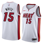 Men's Miami Heat Okaro White Nike Association Edition Replica Jersey