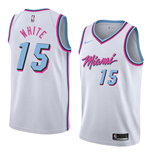 Men's Miami Heat Okaro White Nike City Edition Replica Jersey