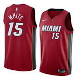 Men's Miami Heat Okaro White Nike Statement Edition Replica Jersey