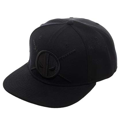 DEADPOOL Black on Black Logo Hat