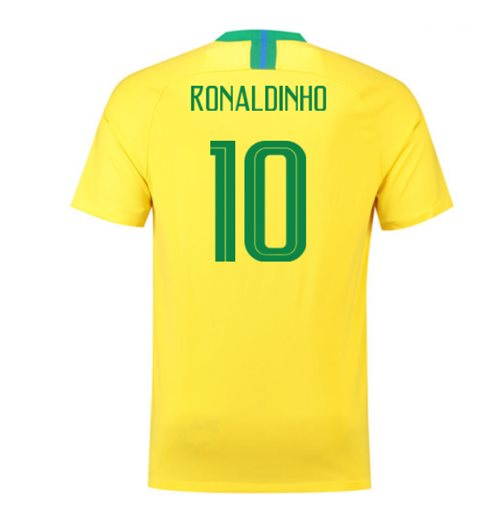 2018-2019 Brazil Home Nike Football Shirt (Ronaldinho 10)