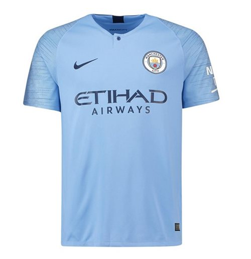 2018-2019 Man City Home Nike Football Shirt