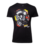 MARVEL COMICS Ant-Man and the Wasp Male Ant-Man Head T-Shirt, Medium, Black