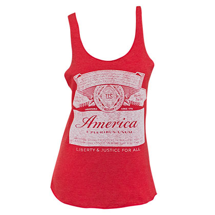 BUDWEISER America Label Racerback Women's Red Tank Top Shirt