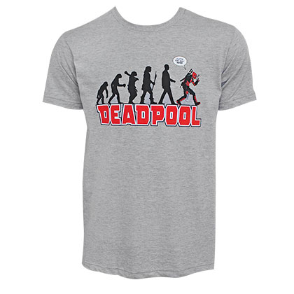 DEADPOOL Evolution Men's Heather Grey T-Shirt
