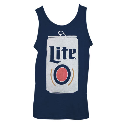 MILLER Lite Can Design Men's Blue Tank Top Shirt