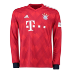 2018-2019 Bayern Munich Adidas Home Long Sleeve Shirt