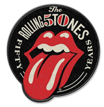 The Rolling Stones Standard Patch: 50th Anniversary (Iron On)