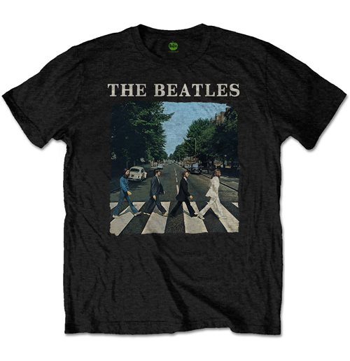 The Beatles Men's Tee: Abbey Road & Logo (Retail Pack)