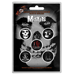 Misfits Button Badge Pack: Skull