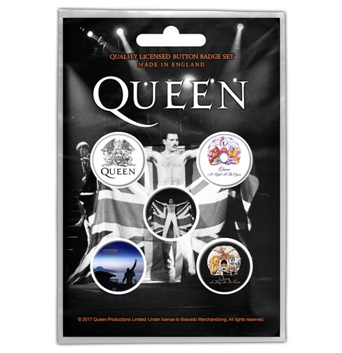 Queen Button Badge Pack: Freddie