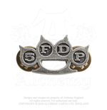 Five Finger Death Punch Pin Badge: Knuckle Duster