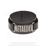 Metallica Leather Wrist Strap: Logo