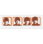 The Beatles Standard Patch: Heads in Boxes (Iron On)