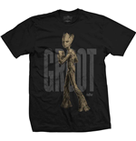 Marvel Comics Men's Tee: Avengers Infinity War Teen Groot Text
