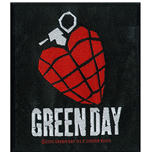 Green Day Standard Patch: Heart Grenade (Packed)