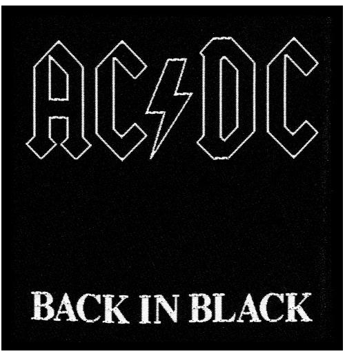 AC/DC Standard Patch: Back in Black (Loose)