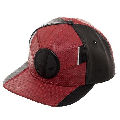 DEADPOOL Suit Up Logo PU Fabric Red Men's Hat