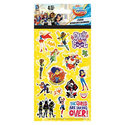 DC Comics Female Heroes Sticker Set 4 Sheets