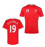 Official Arsenal Training T-Shirt (Red) (S.Cazorla 19)