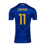 fb8798751 2018-2019 Sweden Away Adidas Football Shirt (Larsson 11) - Kids