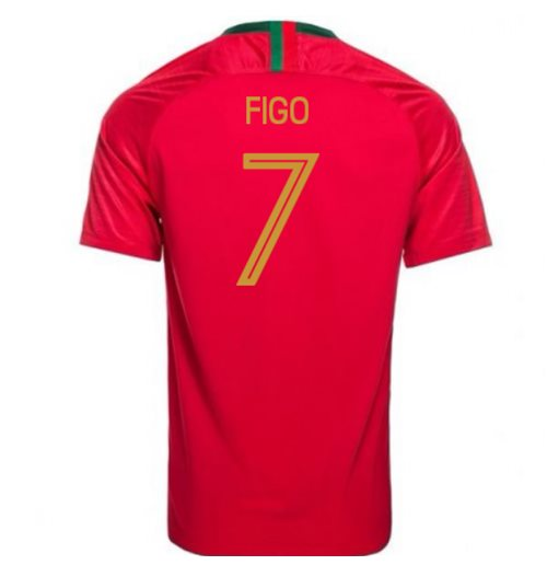 2018-2019 Portugal Home Nike Football Shirt (Figo 7) - Kids