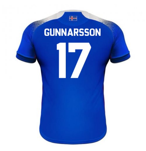 2018-2019 Iceland Home Errea Football Shirt (Gunnarsson 17)