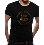 Lord Of The Rings - Gold Foil Logo - Unisex T-shirt Black