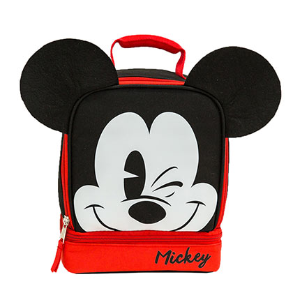 Mickey Mouse Ears Double Compartment Lunch Bag