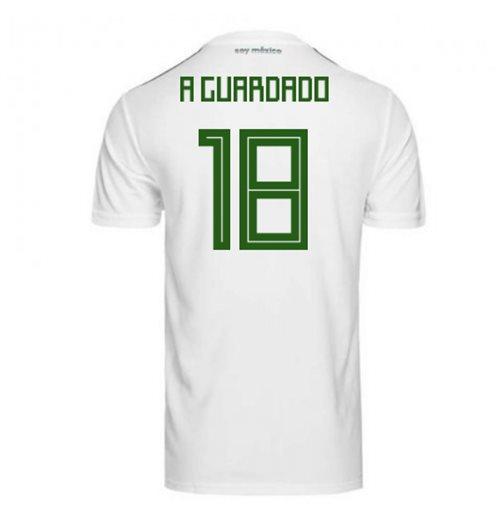 hot sale online 5da98 f1eb5 2018-2019 Mexico Away Adidas Football Shirt (A Guardado 18)
