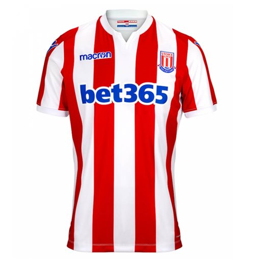 2018-2019 Stoke City Macron Home Football Shirt