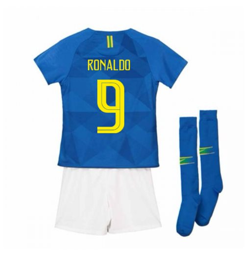 promo code d35c0 e85b7 2018-2019 Brazil Away Nike Little Boys Mini Kit (Ronaldo 9)