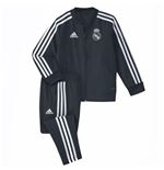 2018-2019 Real Madrid Adidas Mini Presentation Tracksuit (Dark Grey) - Infants