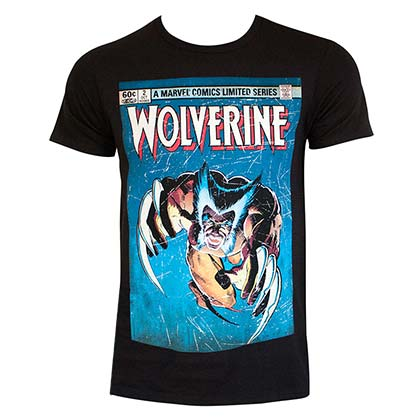 WOLVERINE Leaping Attacking Tshirt