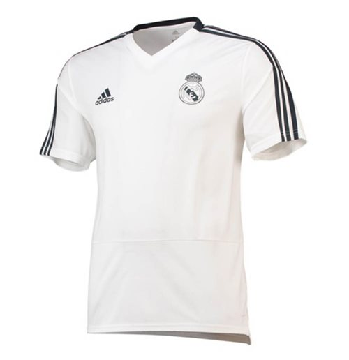 d0d945a71c4 Buy Official 2018-2019 Real Madrid Adidas Training Shirt (White)