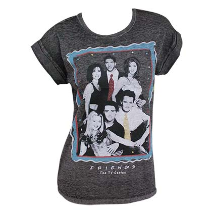 FRIENDS Cast Photo Rolled Sleeves Women's Tshirt
