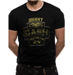 Johnny Cash - Label - Unisex T-shirt Black